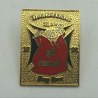 Vtg Iron Cross Men Santa's Bag 5th Annual Toy Run Christmas Lapel Hat Pin  S1