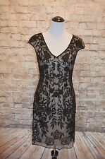Modcloth Soiree What You Need to Say beaded sheath NWT 6 $275 Prelude black nude