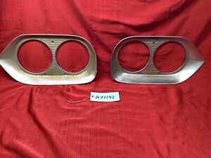 1958-1960 FORD F-100 F-250 LEFT & RIGHT HEADLIGHT TRIM BEZEL SET