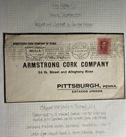 1928 Sevilla Spain Commercial Cover To Armstrong Cork Co Pittsburg PA USA
