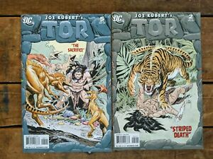 Tor #2 and #5 **TWO ISSUE LOT** (DC 2008) Joe Kubert - Limited Series - Jungle