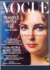 Elizabeth taylor en avril 1971 vogue magazine cover monté imprimer. free uk post.