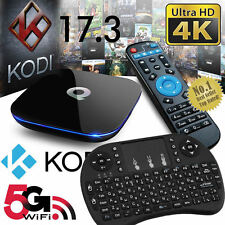 Q-Caja Android 6.0 TV Box Kodi 17.3 reproductor de medios 2+16GB 5Ghz Wifi Mini Teclado