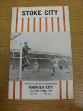 22/09/1965 v Norwich City [Stoke City Copa de Liga de fútbol] (Partituras/resultados señaló