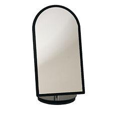 "Countertop Black Frame Glass Mirror 360° Rotation Retail Jewelry Makeup 7"" x 14"""