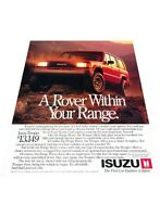 1989 Isuzu Trooper - Range Rover ref - Vintage Advertisement Car Print Ad J401