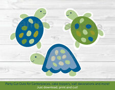 Sea Turtles Under The Sea Reef Turtles Party Cutouts Decorations Printable