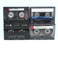 TDK & SONY Audio Cassette Tapes TDK D120 / TDK SA90 / TDK AR90 & SONY EF60