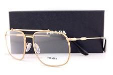 Brand New Prada Eyeglass Frames PR 56UV 1BK  Matte Gold for Men Women Size 55