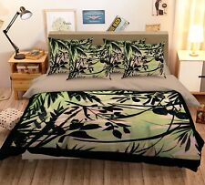 3D Tree Paint 4 Bed Pillowcases Quilt Duvet Cover Set Single Queen King Au Carly
