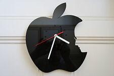 Orologio da parete design Apple, realizzata in plexiglass nero [a-2]