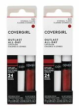 2 X COVERGIRL Outlast All-day Lipcolor 521 Eternal Flame