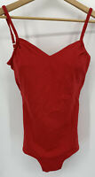 Vintage Perfection Fit By Roxanne Swim Suit Pin Up Size 14 / 36 C Lipstick Red
