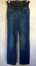 Ladies Womens Maternity Jeans Dark Blue Denim Pumpkin Patch Size XS (8)