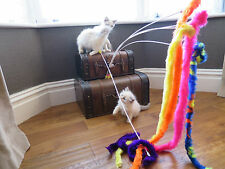 Wiggle Stick Toy, Teaser, Chaser, Wand.  Cats Love Them!