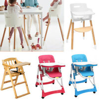Adjustable Baby High Chair Infant Toddler Feeding Booster Folding Safe