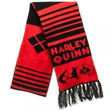 DC Comic HARLEY QUINN Batman Winter Long Knit Scarf Women Men Adult Costume Idea