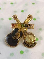 Branson Missouri Enamel Gold Tone Banjo Guitar Lapel Pin Tie Tack