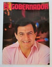 VTG BOOKLET / RAFAEL HERNANDEZ COLON / EL GOBERNADOR / PUERTO RICO 1980's