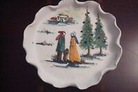 "Christmas 1972 Plate by Fontana, Italy, handcrafted, 7"" New in box[a2rack]"