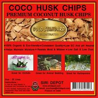 Coco Husk Chips Loose Hydroponics for Plant, Reptile Bedding, Orchids 10L/ 25L