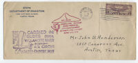 1931 Portland OR glider airmail cover rose festival [5509.27]