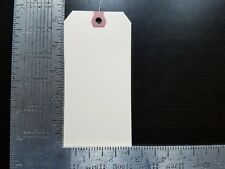 "25- 2-5/8"" x 5-1/4"" Wired Manila Tag Hang Label Shipping Inventory Stock Size 6"