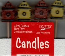 FIREFIGHTER PICK CANDLES PACK OF 4 BIRTHDAY PARTY SUPPLIES