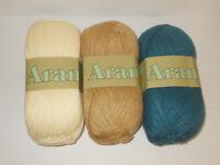 V & A Airedale Wool Blend Aran Knitting Yarn 80% Acrylic 20% Wool 200g Balls