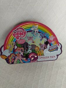 Set Of 3 My Little Pony Puzzles In Decorative Tin