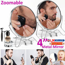 """4"""" Round Double Sided Makeup Cosmetic Mirror Small Folding 2 Way Zoom 2X Magnify"""