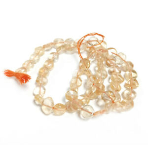 Golden Citrine Beads Plain Coin Approx 5-6mm Strand Of 45+