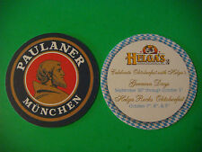BEER Coaster ~ PAULANER MUNCHEN Brewery: Helga's German Restaurant; Denver, CO