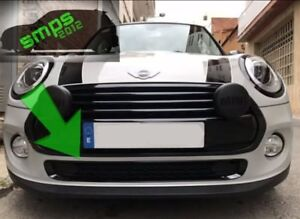 Mini One/Cooper F56, F55, F57 Front Black Gloss Grille Cover, Bottom Section