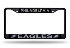 Philadelphia Eagles Chrome Metal License Plate Frame - Auto Tag Holder NEW Black