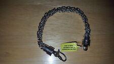 "Sterling Silver nickel free Bali Byzantine link bracelet 8 "", 8.0 MM, 34 gm"