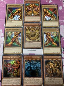 YUGIOH EXODIA THE LEGENDARY INCARNATE GOD CARDS OBELISK SLIFER RA LDK2 ULTRA