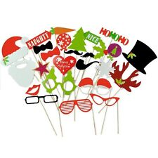 Christmas Photo Booth Props, 27pcs, Attached NO DIY NEEDED, Ships Fast US
