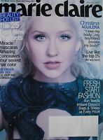 CHRISTINA AGUILERA February 2012 MARIE CLAIRE  Magazine