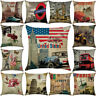 18'' Vintage Style Pillowcases Living Room Throw Cushion Cases Cushion Cover