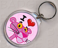 I LOVE (HEART) PINK PANTHER KEYRING - double sided!