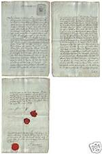 Russia 1809 Revenue stamped paper wax seal WM 1808 Rare