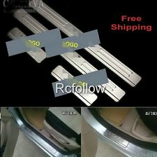 SALE 4 Door Sill Scuff Plates Protector STAINLESS FIT FORD FOCUS MK2 2005-2011