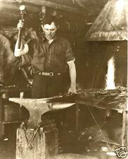 Vintage Blacksmith Tools Anvil Fire Horseshoes Forging Metal Swinging Hammer WOW