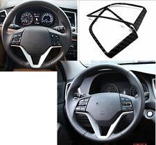 For 2015-2019 Hyundai Tucson Carbon fiber internal Steering Wheel Cover Trim 2P