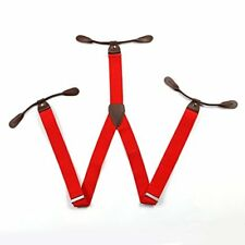 Men Braces 6 Button Hole Suspenders Adjustable Lycra/Elasticated Y Shape Unisex