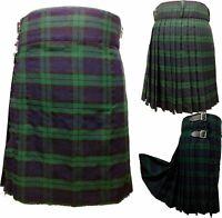 Scottish Highland Traditional Black Watch Tartan Men's 5 Yards Kilt
