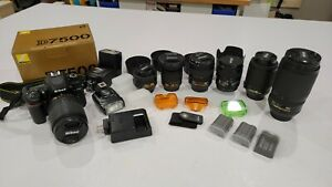 Nikon D7500 Camera, lenses and flashes + extras