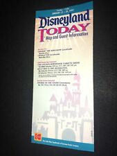 1997 Disneyland Today Map & Guest Information Fold Out Brochure 1- 21-24 1997