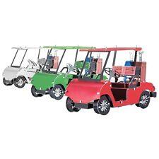 Fascinations Metal Earth 3D Steel Model Kit 3 Colors Golf Carts Set Model Toy
